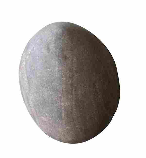 Modern Stone Egg Sculpture - Medium