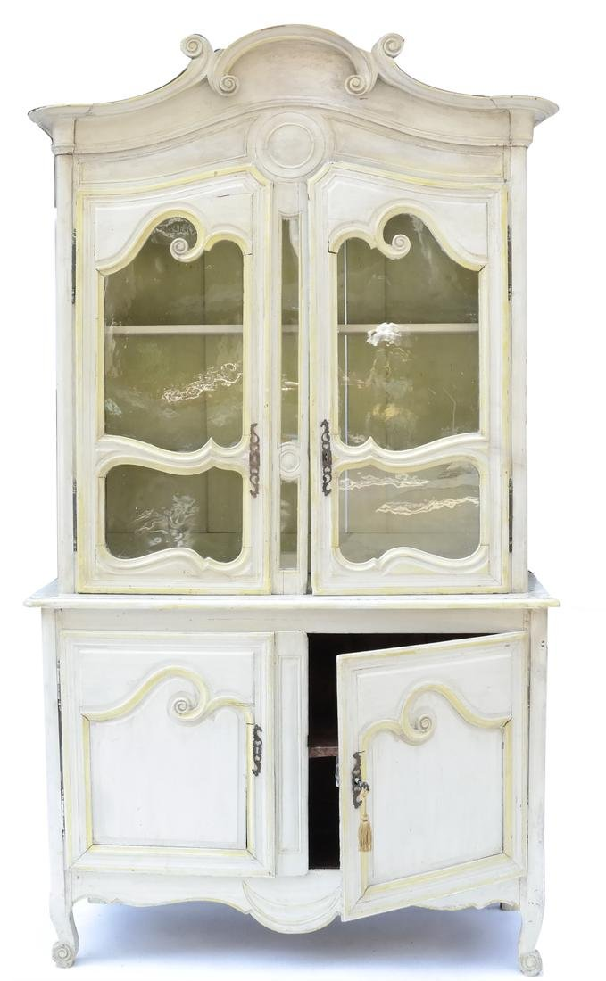 19th Century LXV Style Painted Cupboard