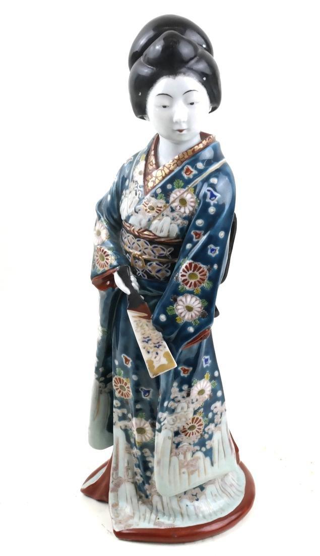 Ceramic Sculpture of a Decorated Geisha