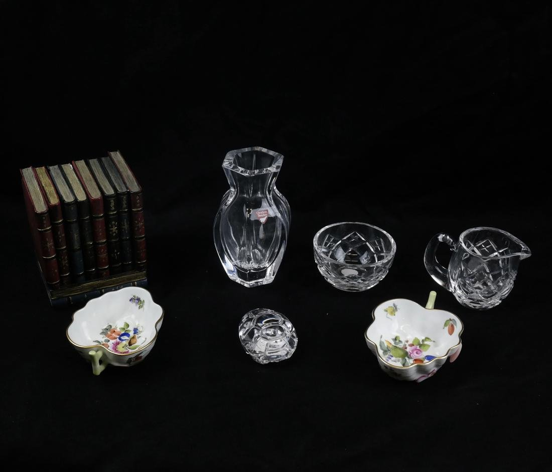 Group of Decorations; Glass, Porcelain, Others
