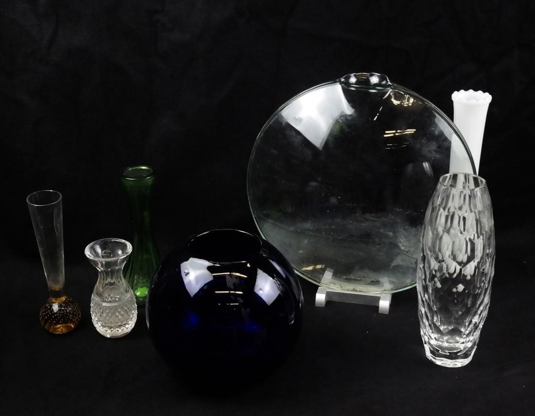 Seven Glass Vases