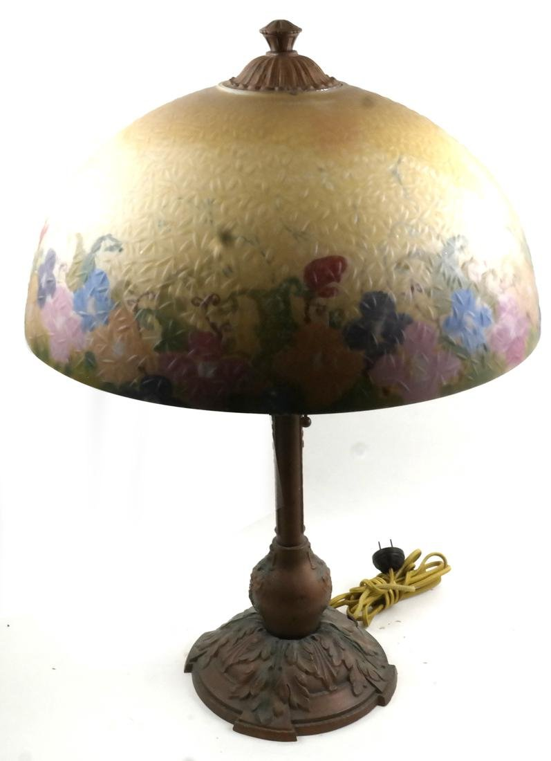 Art Deco Reverse Painted Table Lamp