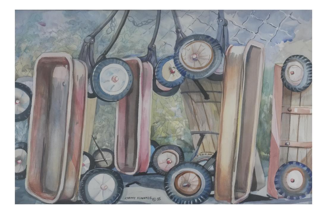 Christy Edwards, Wagons (c) '88 - Still Life