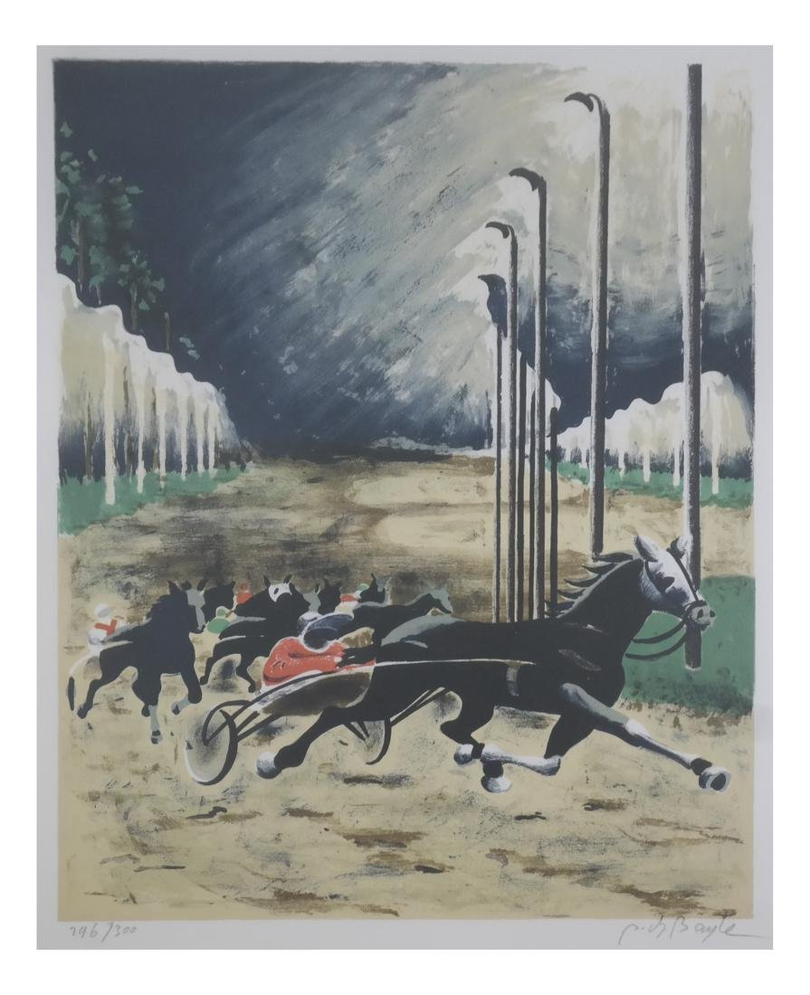 Bayle, Race Horses - Lithograph
