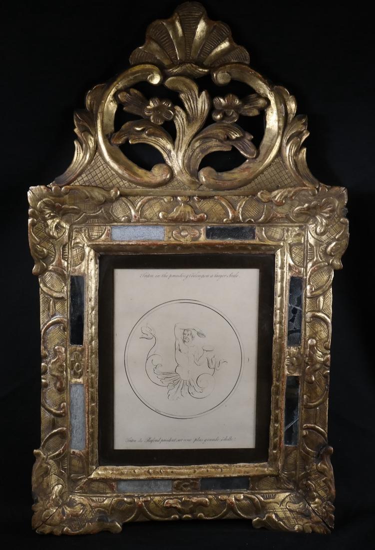 Continental Giltwood Framed Triton Print