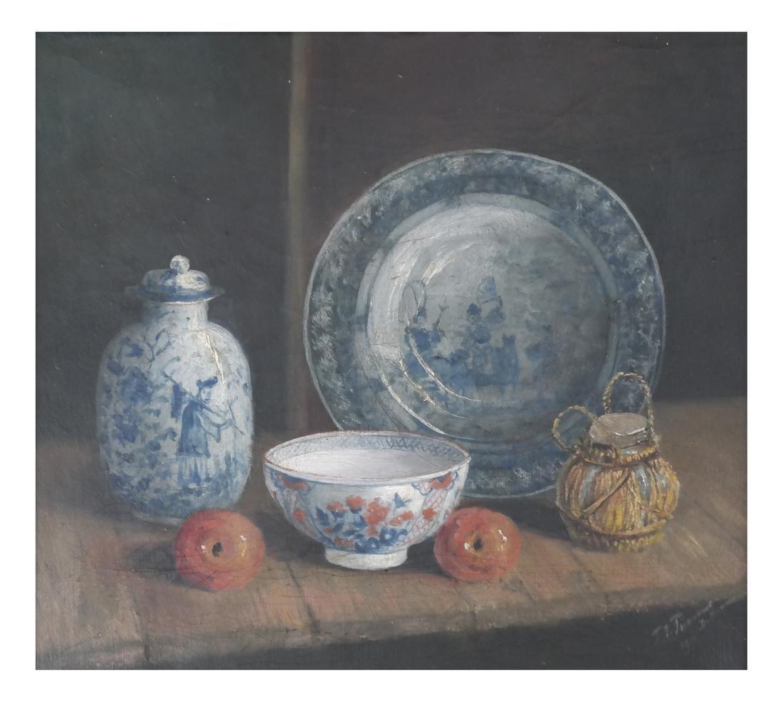Northern European School - Still Life, Oil on Canvas