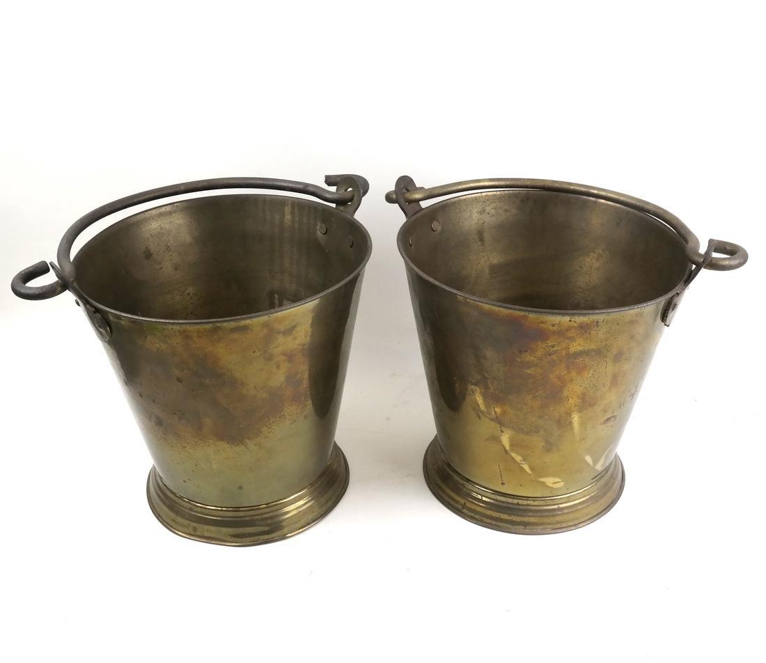 Pair of Brass Buckets