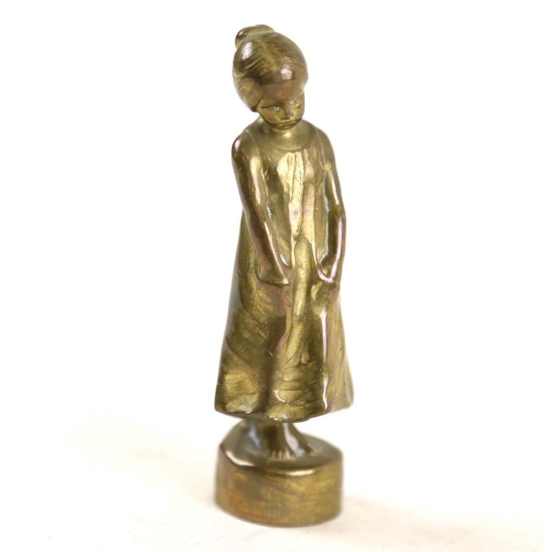 Paul Terezchuk Miniature Sculpture of a Girl
