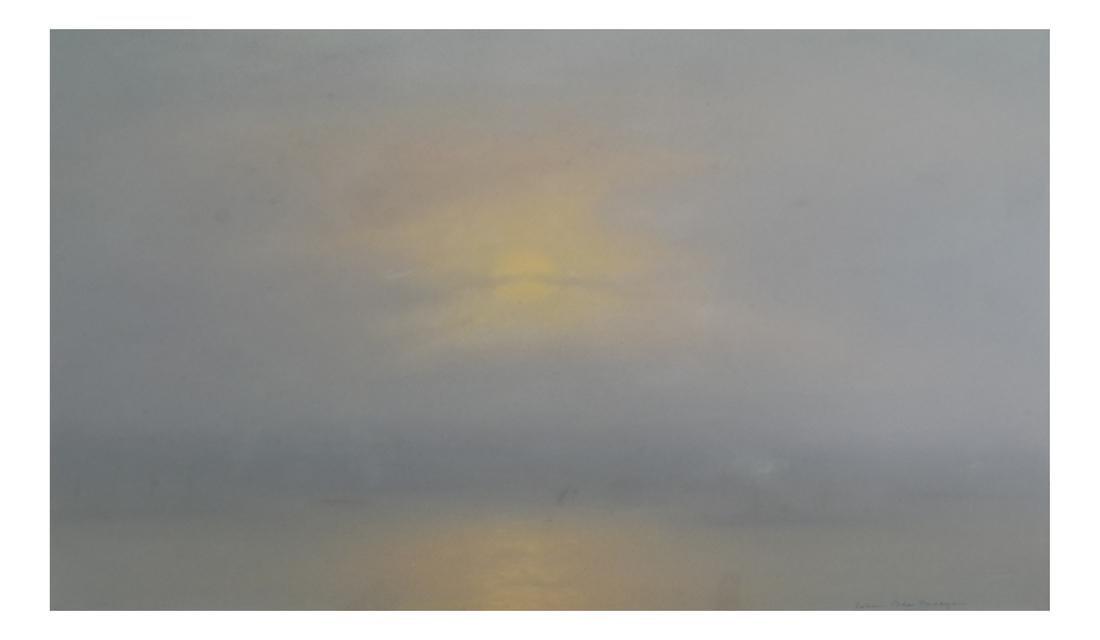 Johann Berthelsen, Moonlit Seascape - Gouache on Paper