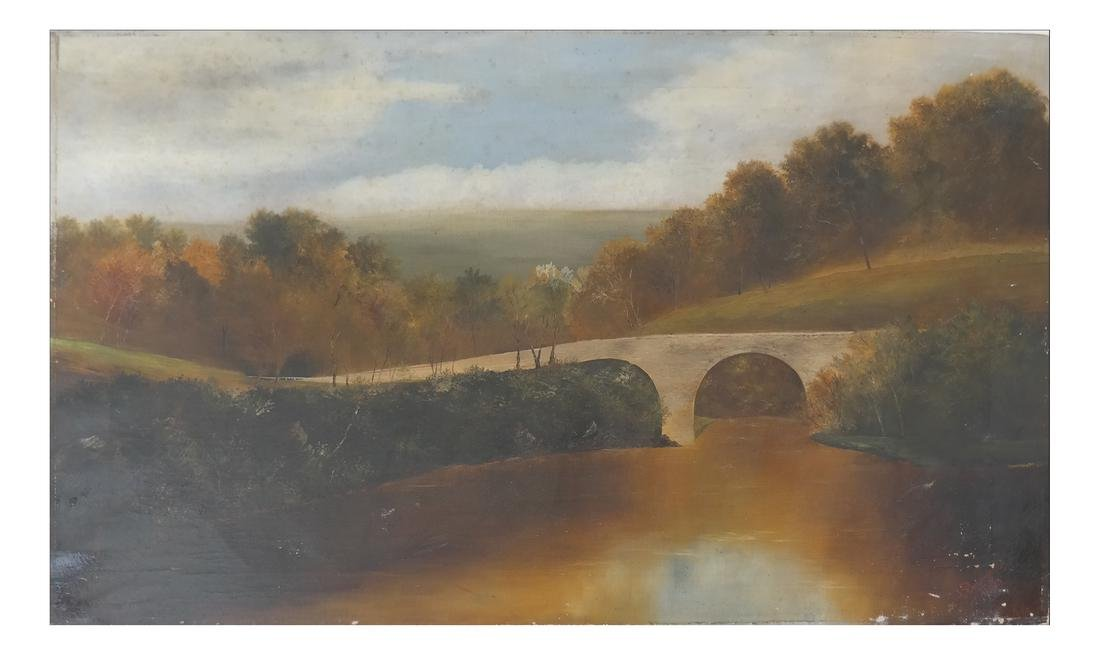 J. Broughton River Landscape- Oil on Canvas