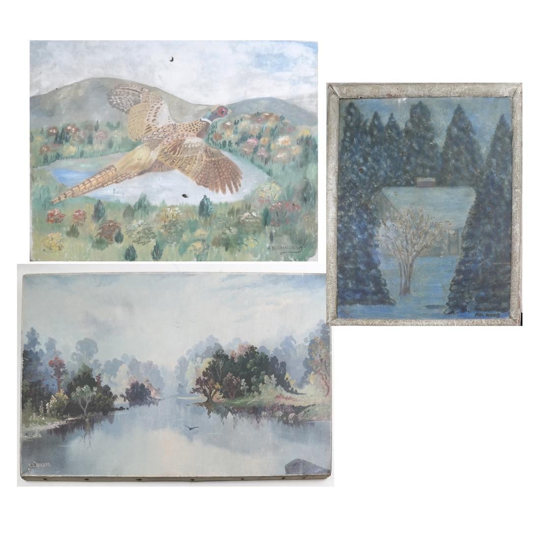 Three Works: Riverscapes, Bird