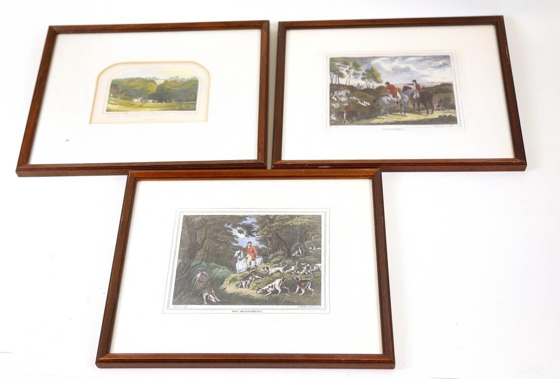 Three English Hunt Prints