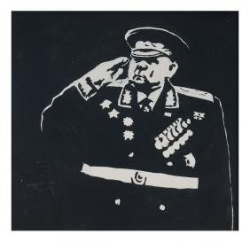 Andy Jurinko, Portrait Of A General - Pen & Ink