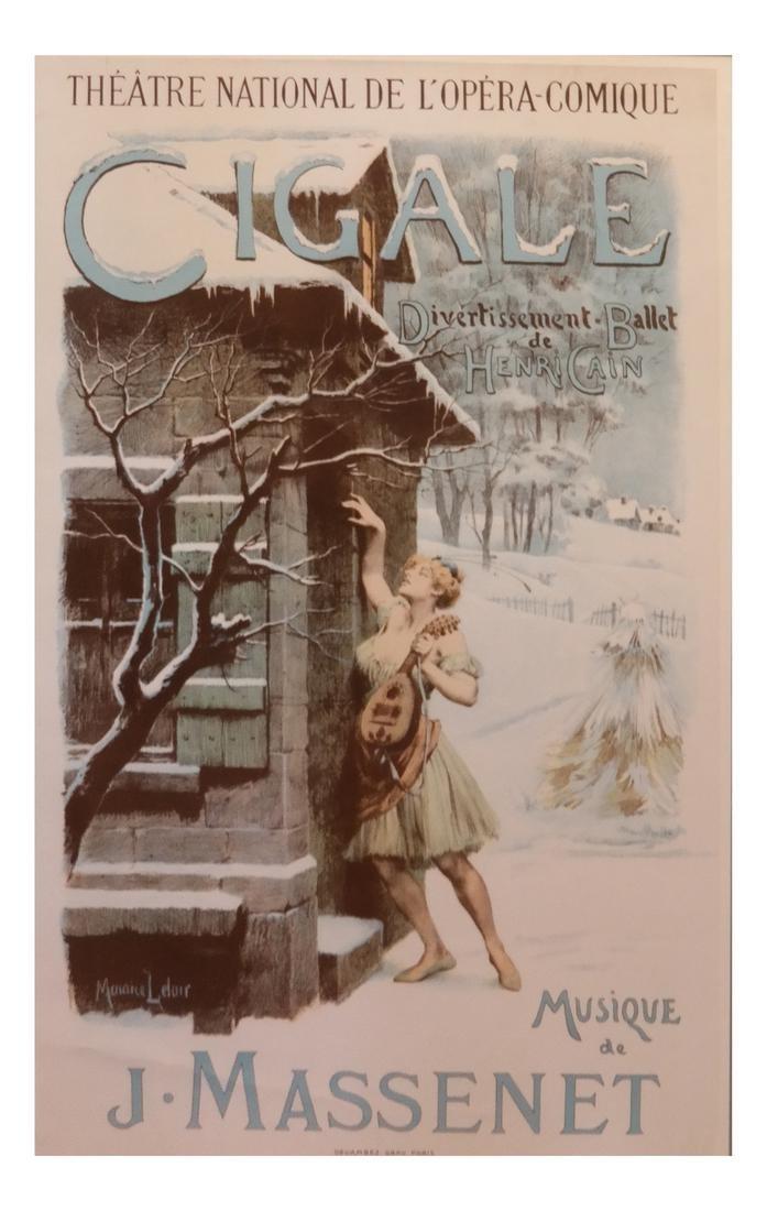 "Maurice Leloir, ""Cigale Ballet"" Poster"