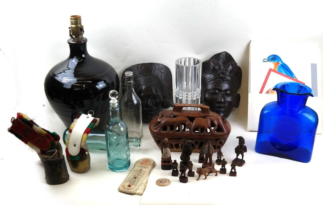 Assorted Glass and Decorations