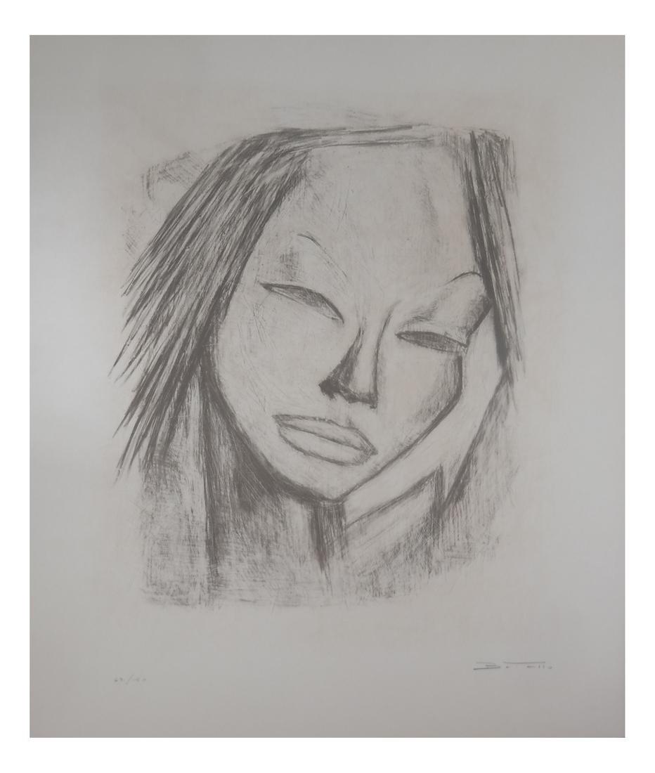 B. Tello, Asian Female - Lithograph