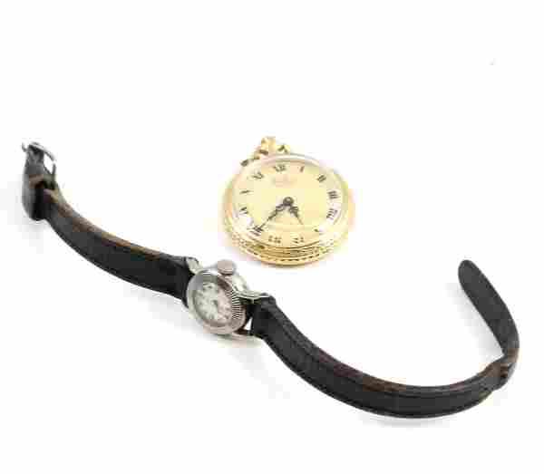 14K Gold Case Bel Art Lady's Pocket Watch & Other