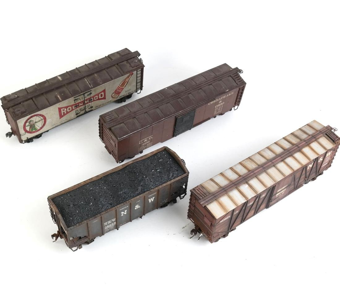 Four Model Freight Cars