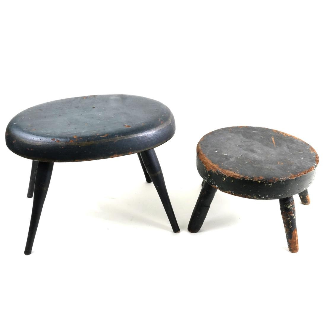 Two Antique American Stools