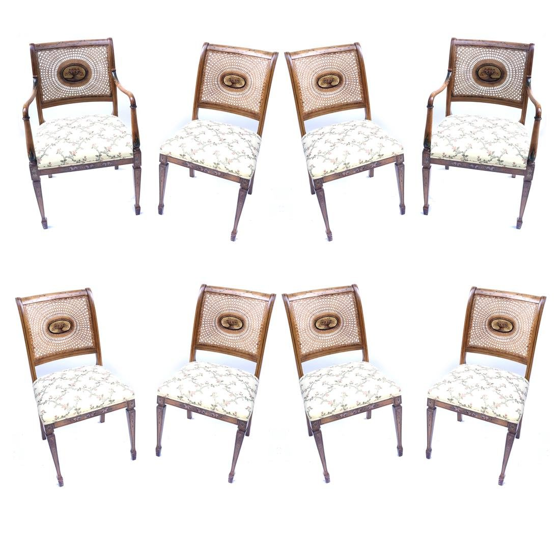 Set of 8 Adams-Style Dining Chairs