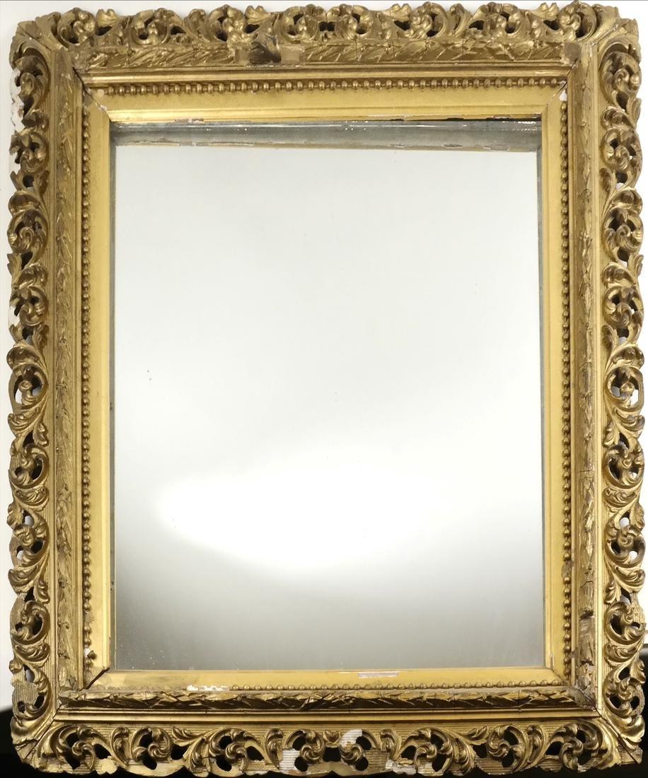 Ornate Gilt Composition Mirror