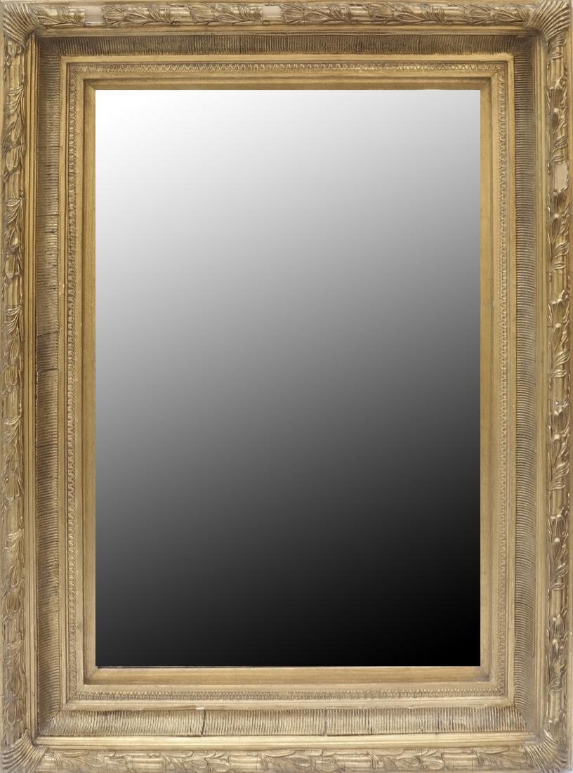 Gesso and Carved Gilt Wood Mirror