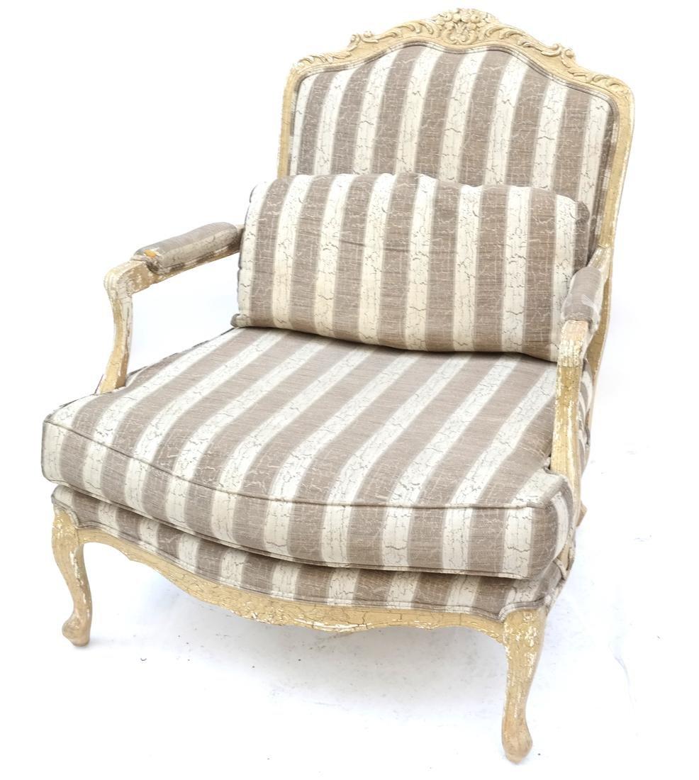 Louis XV-Style Beechwood Open Armchair