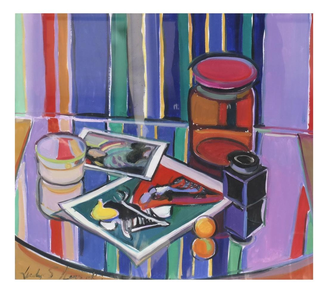 """Judy Hendricks, """"Pictures, Jars and Stripes"""""""