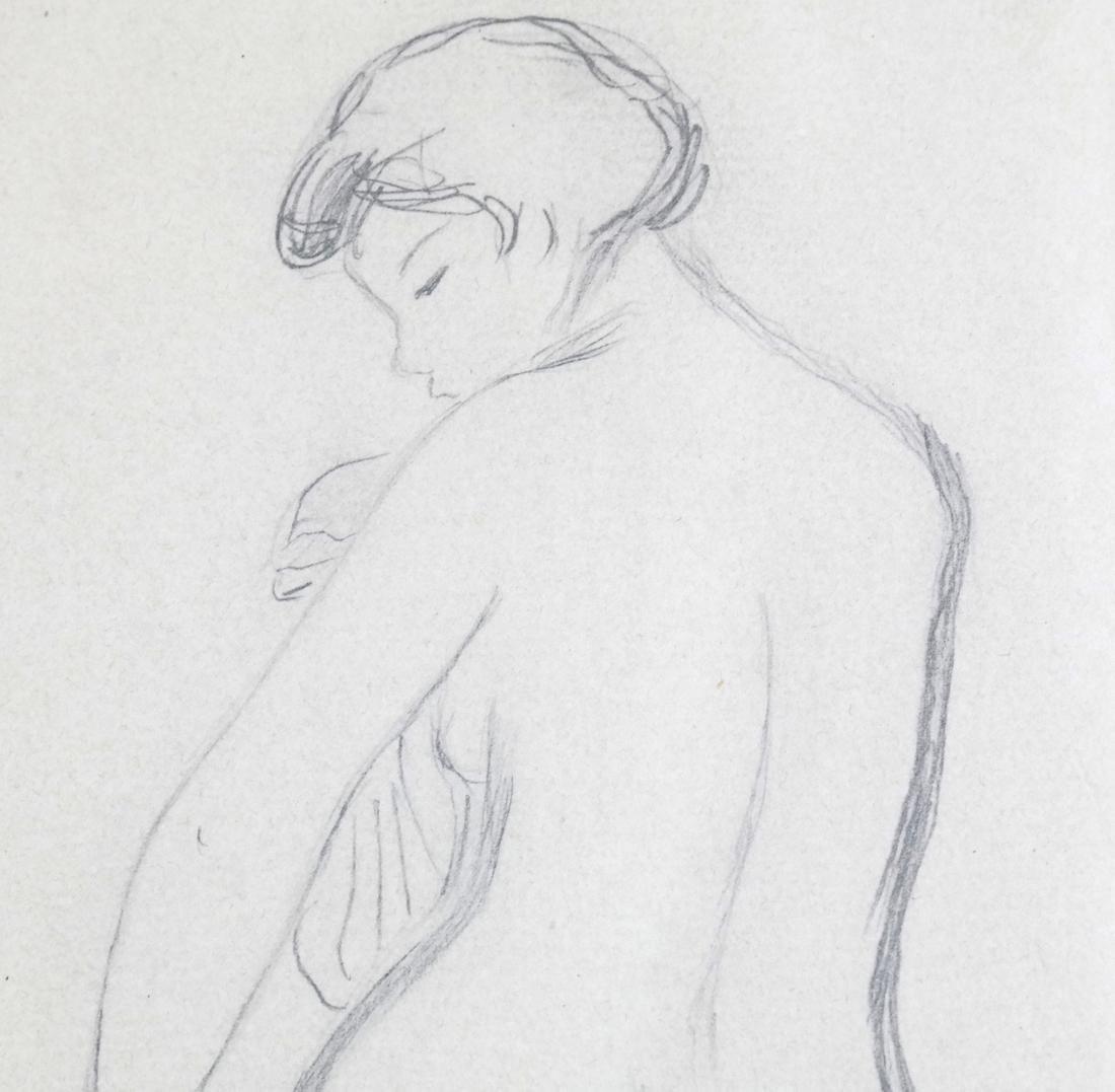 "Pierre A. Renoir, ""Bather Standing..."" - Pencil Sketch - 4"