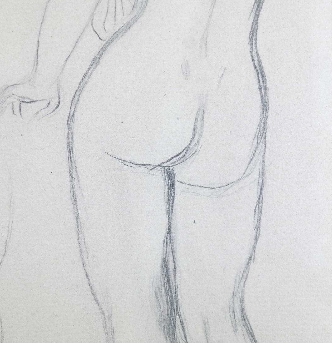 "Pierre A. Renoir, ""Bather Standing..."" - Pencil Sketch - 5"