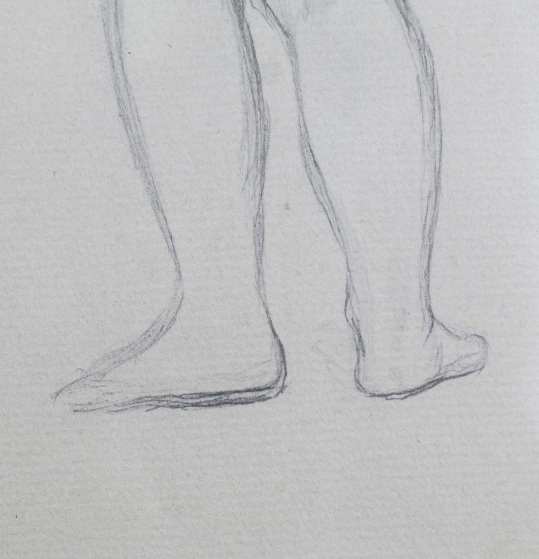 "Pierre A. Renoir, ""Bather Standing..."" - Pencil Sketch - 6"