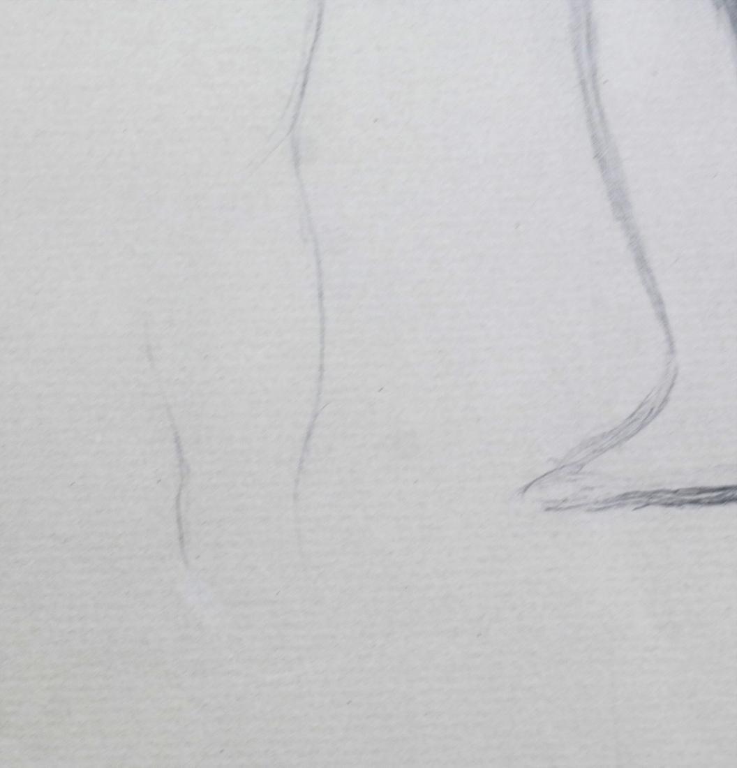 "Pierre A. Renoir, ""Bather Standing..."" - Pencil Sketch - 7"