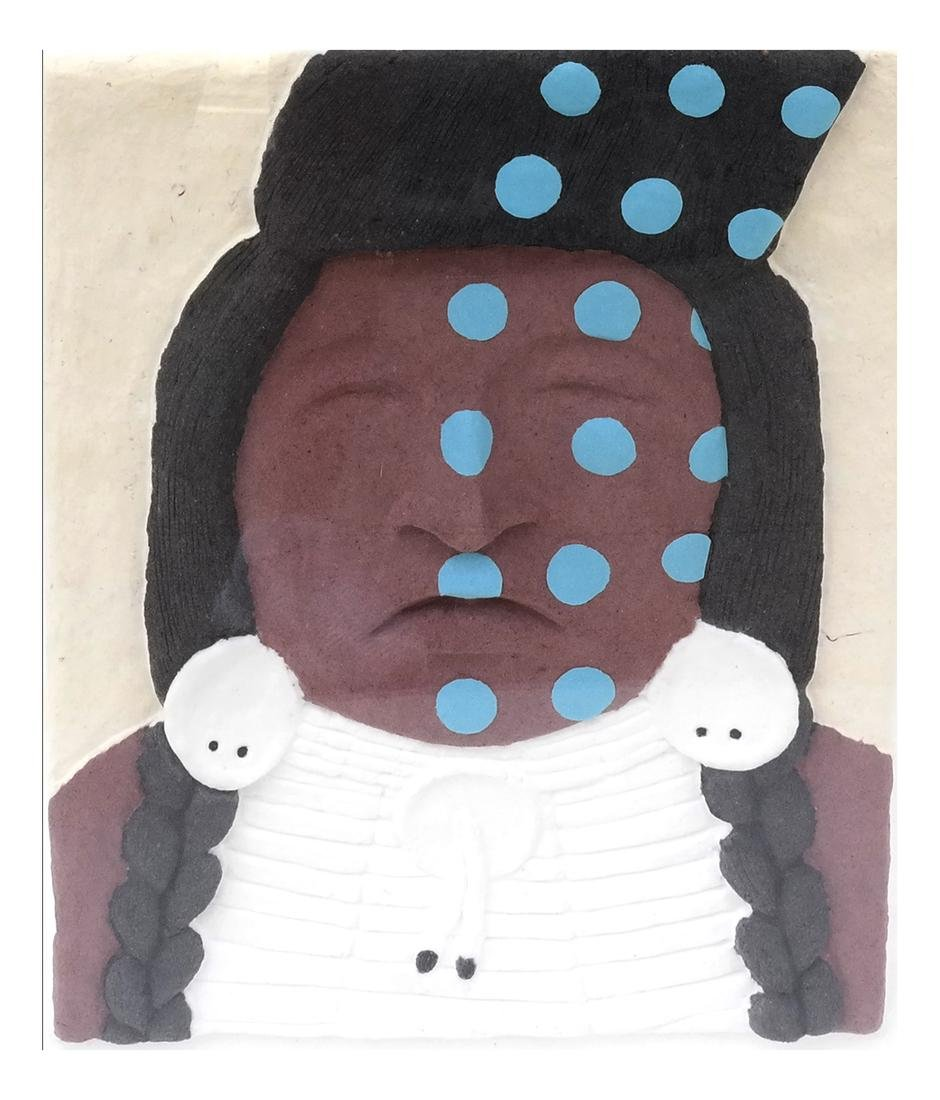 Native American Chief Mixed Media Lithography
