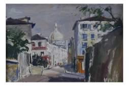 Rene ZimmermanParis Montmartre  Oil on Board