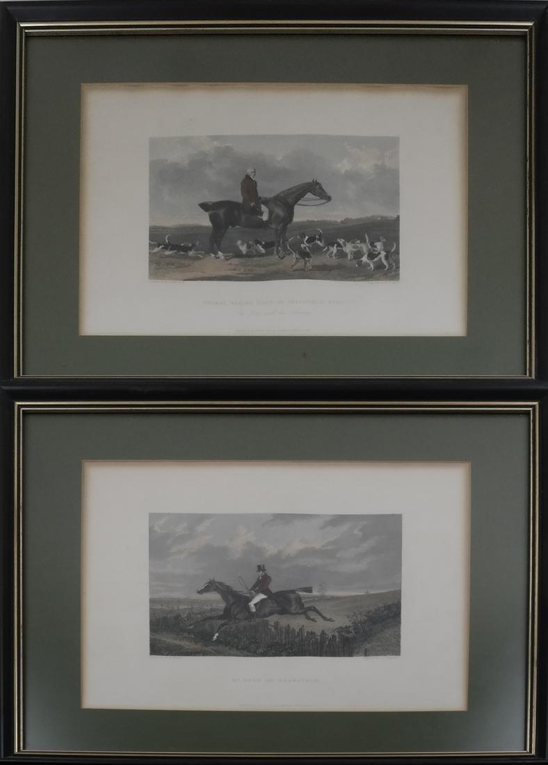 Pair of English Hunt Prints