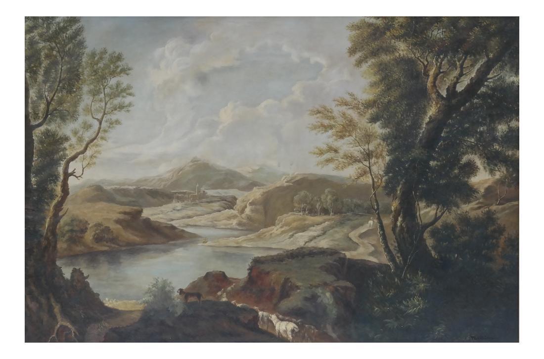 Large Pastoral Landscape - Oil on Canvas