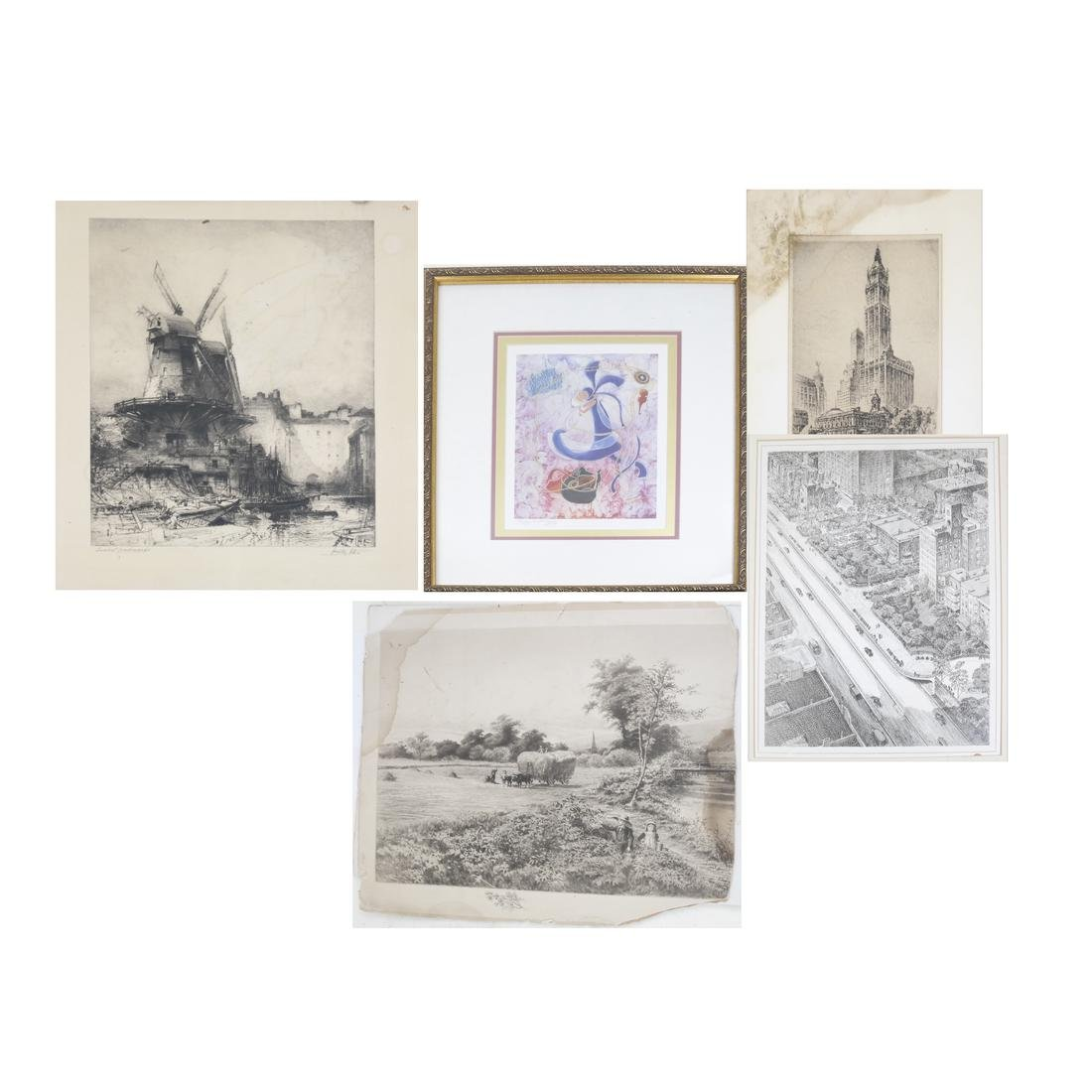 Group of Vintage and Modern Prints