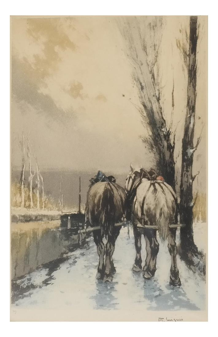 Canal Horses, La Somme - Print