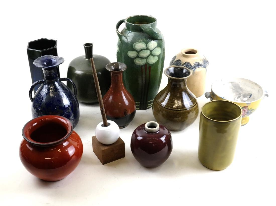 11 Various Ceramic and Porcelain Vases