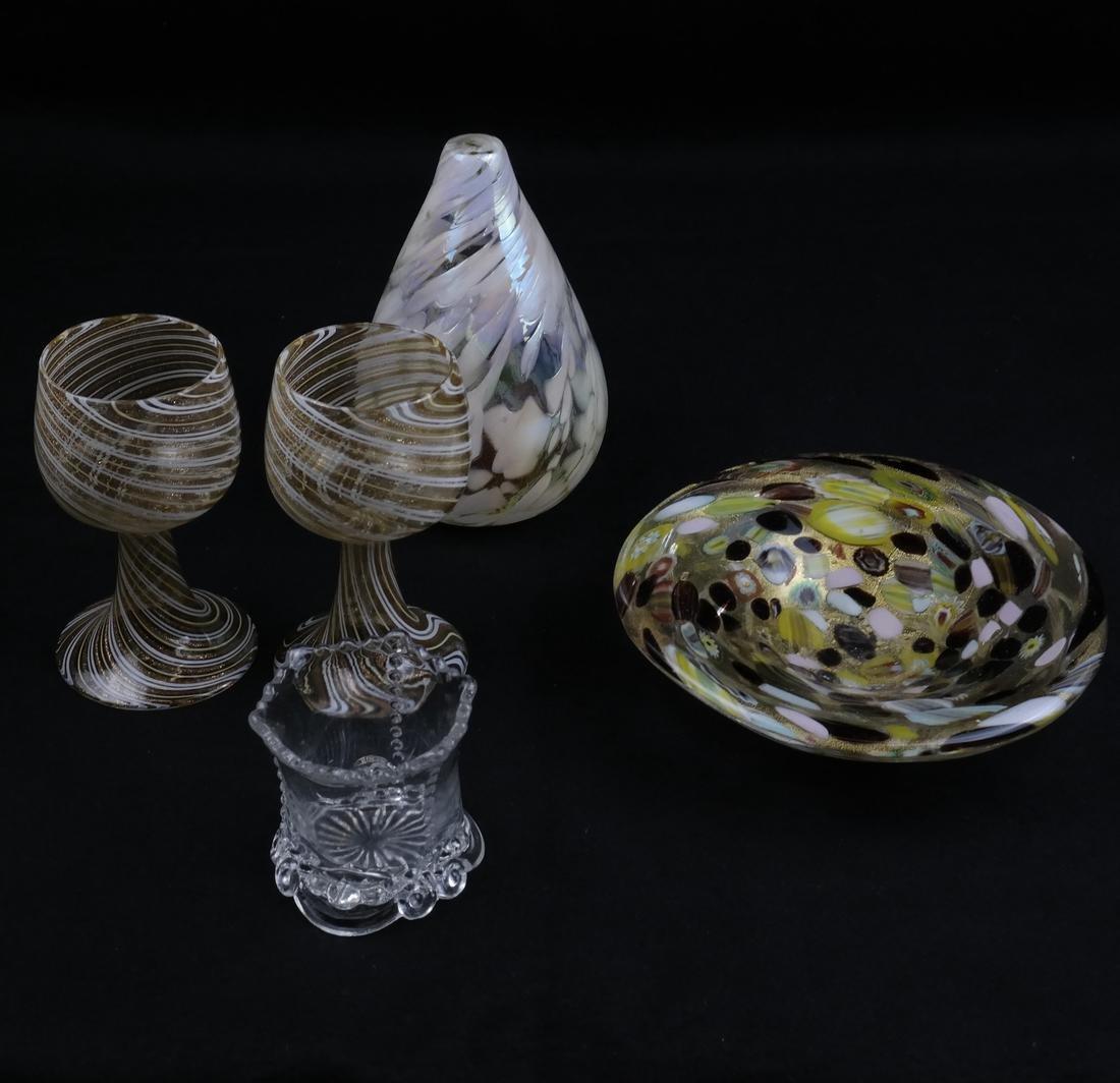 Italian Art Glass Group - Five Pieces