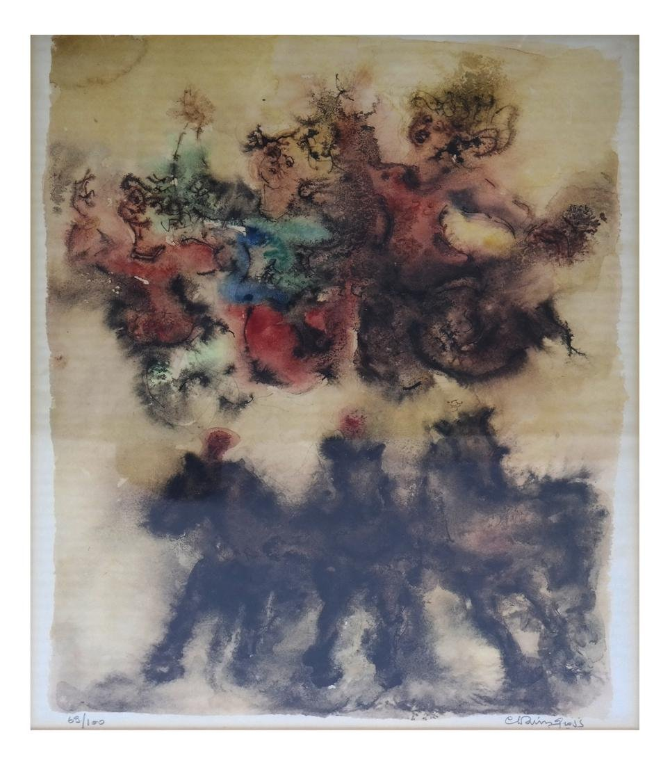 Chaim Gross Figural - Horses Abstract