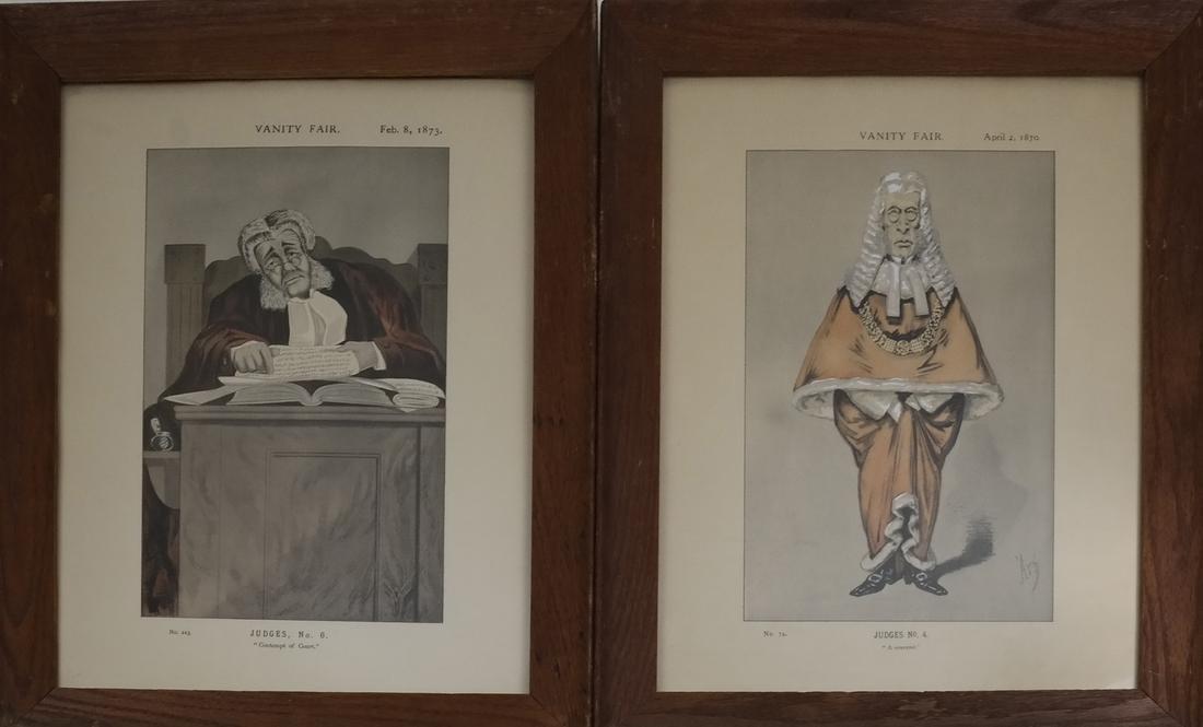 """Two Vanity Fair """"Judges"""" Prints"""