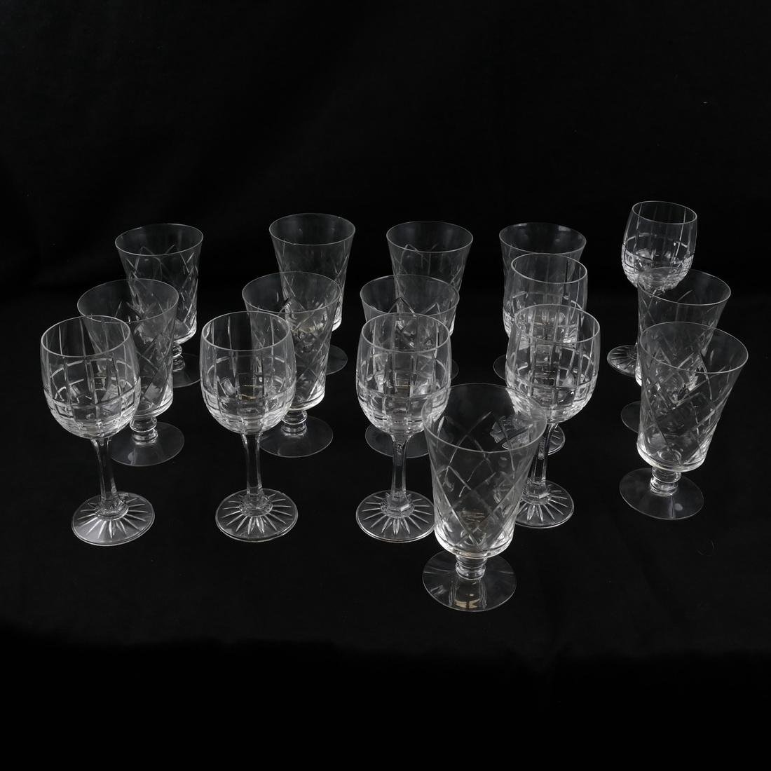 16 Assorted Crystal Stemware