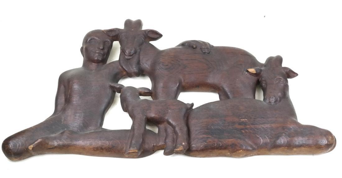 James Lindsay McCreery, Carved Oak Sculpture