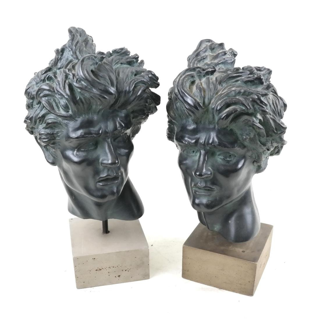 Two Classical Composite Sculptures, Male Heads