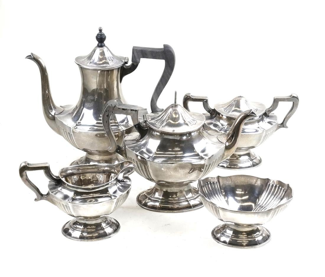 Sterling Silver Tea Set by the Nowlan Co.
