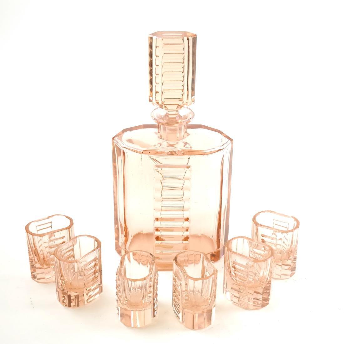 Art Deco 7 piece Liqueur Set