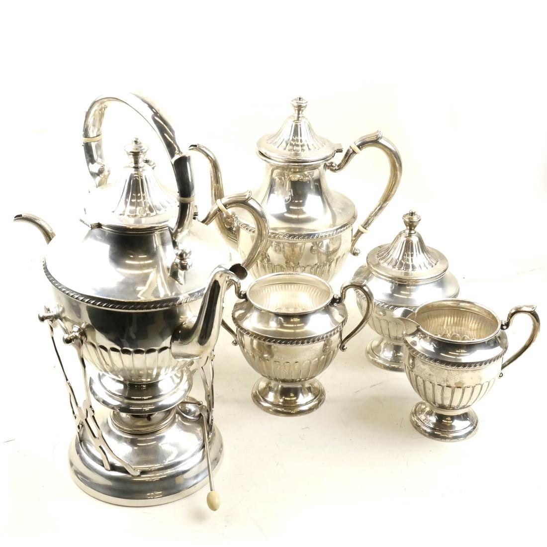 Six Piece Sterling Silver Tea Service