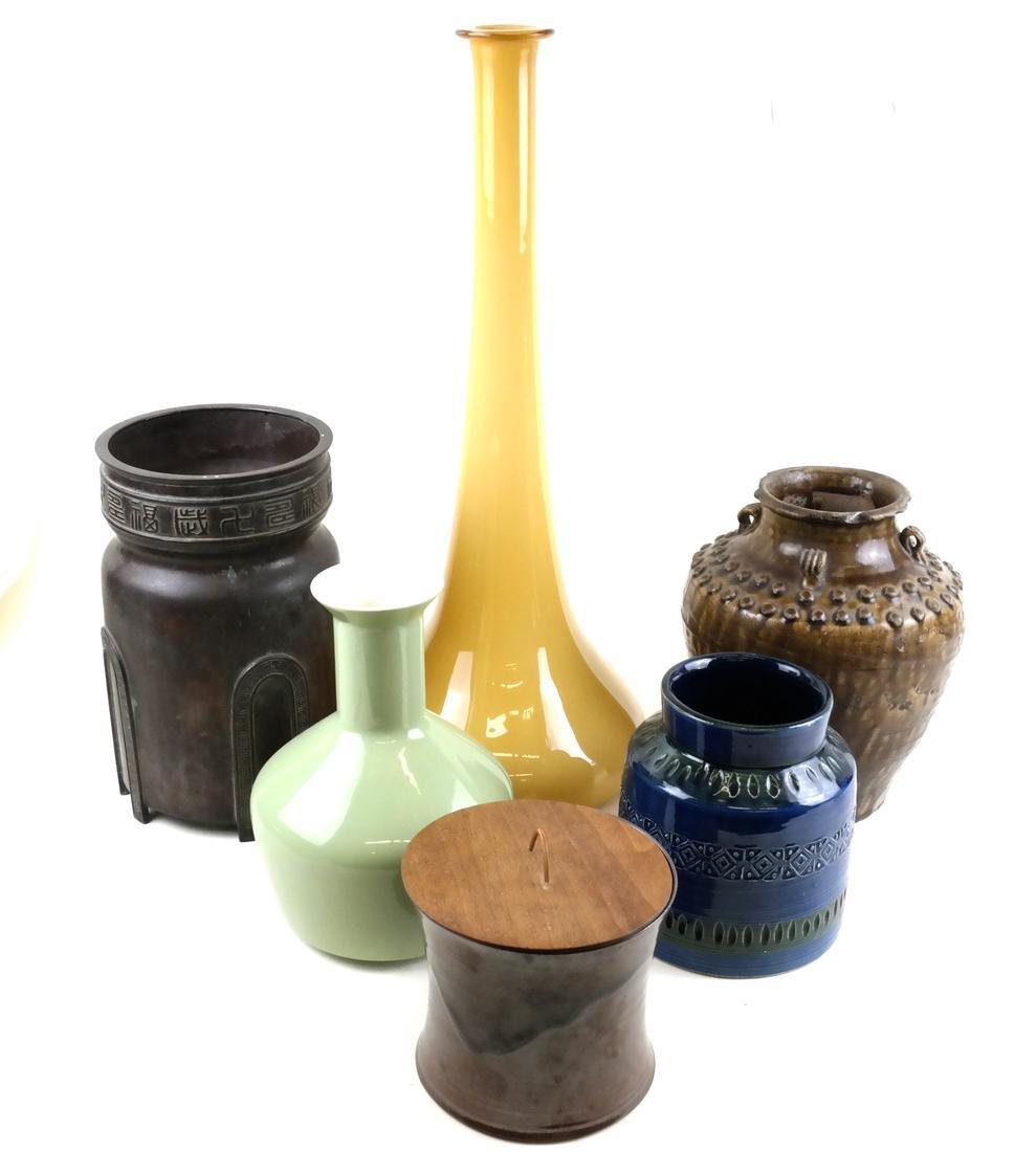 Six Various Vases