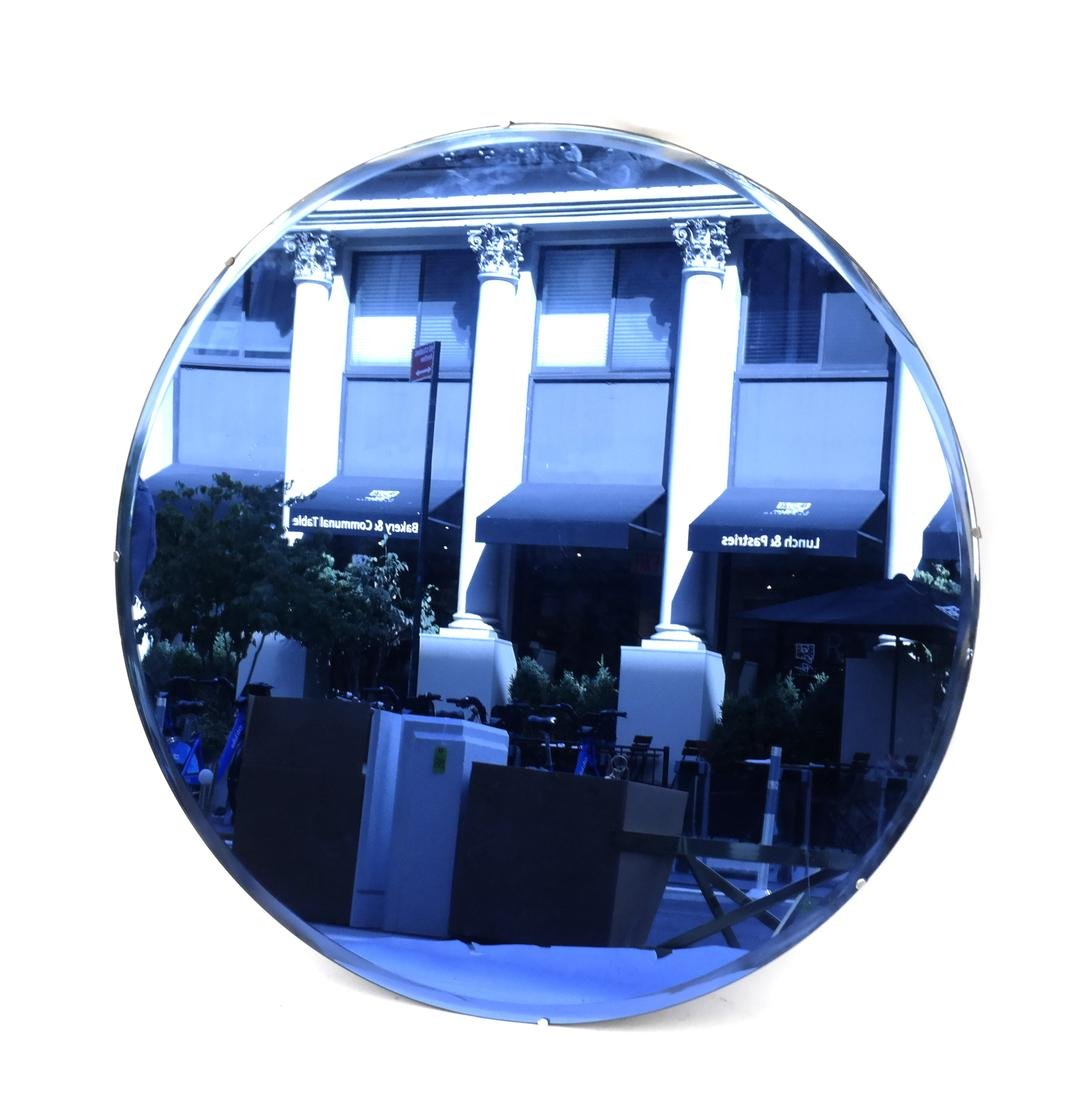 Mid Century Modern Blue Mirror